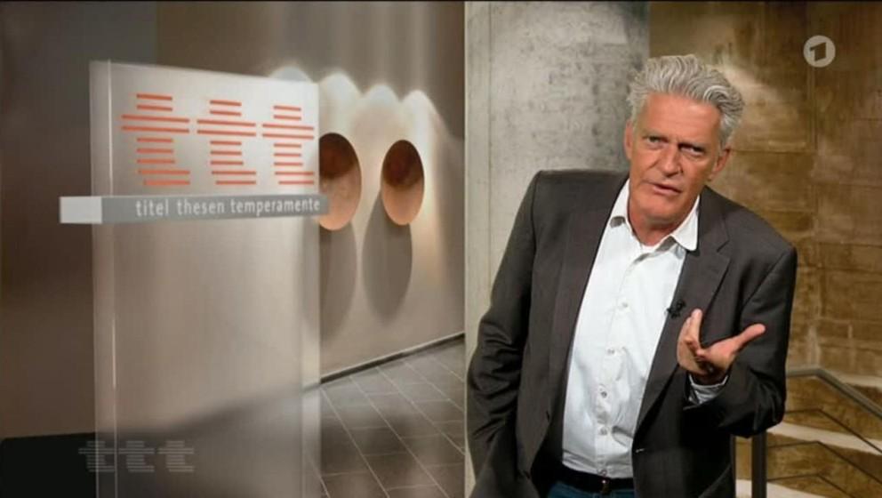 """""""titel, thesen, temperamente""""  läuft wöchentlich in der ARD."""