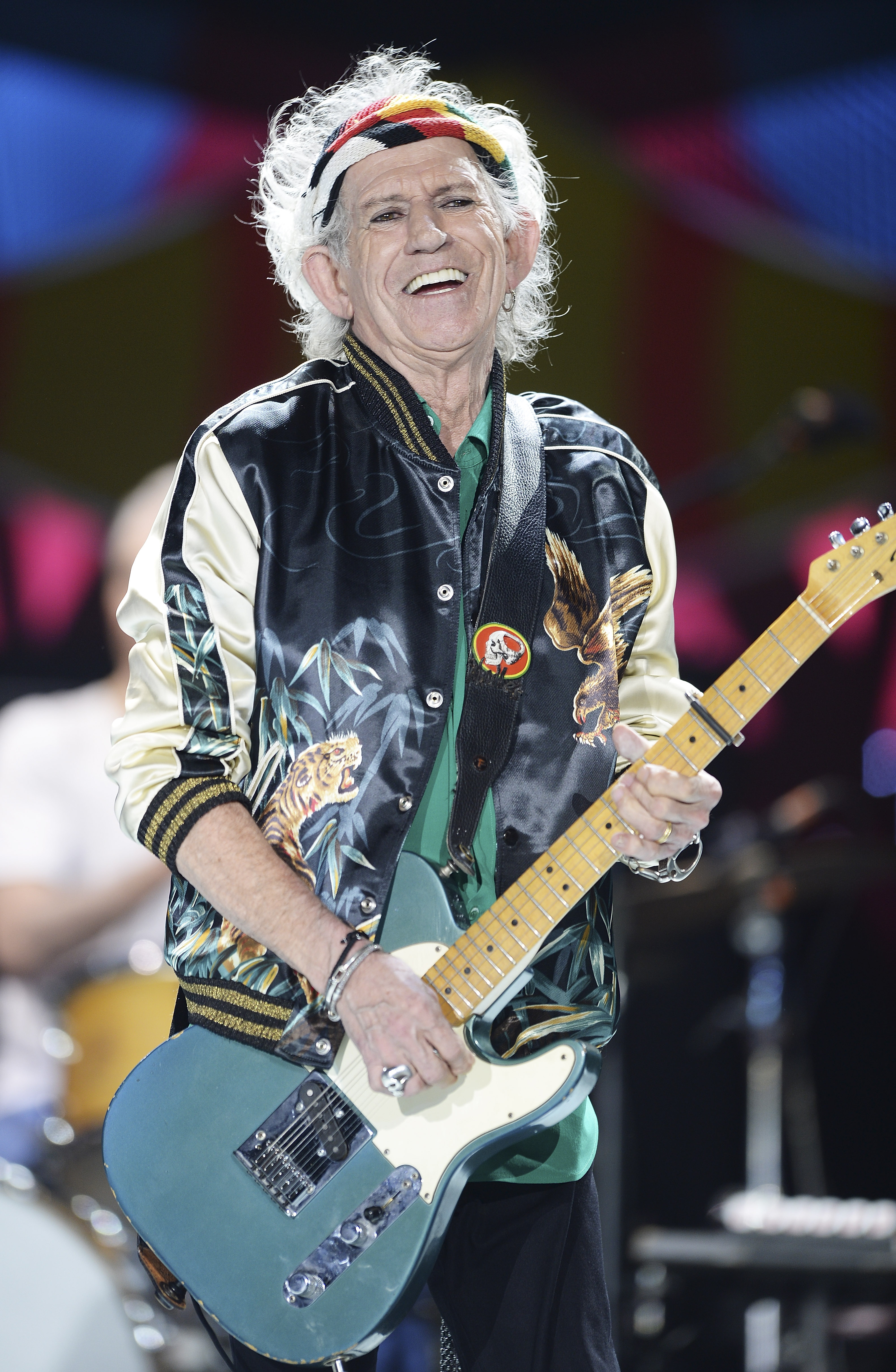 HAVANA, CUBA - MARCH 25:  Keith Richards performs on stage during The Rolling Stones concert at Ciudad Deportiva on March 25,