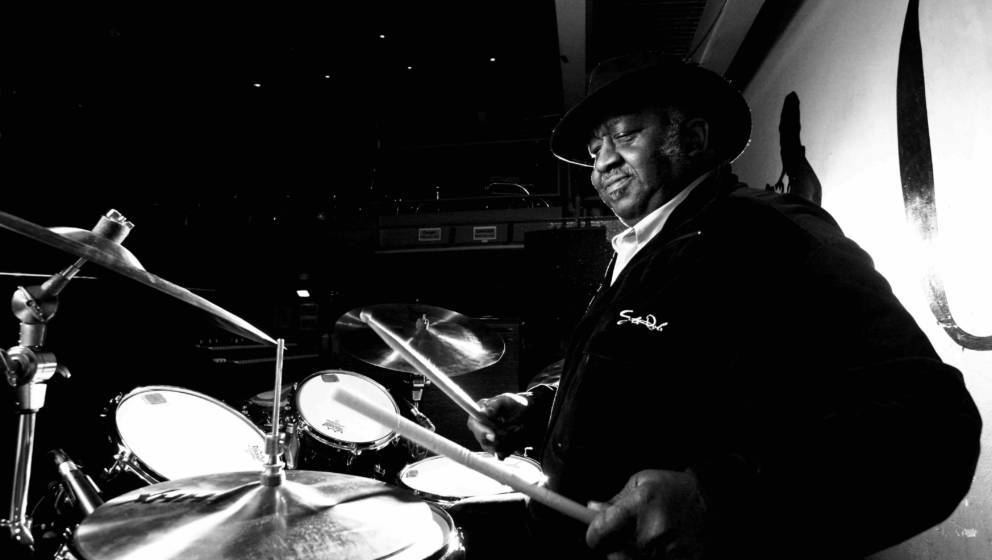 LONDON - 14th DECEMBER: American drummer Bernard Purdie posed at the Jazz Cafe in London on 14th December 2007. (Photo by Ric