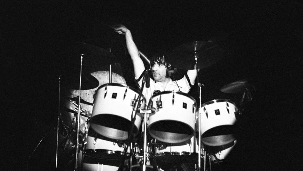 ROTTERDAM, NETHERLANDS - OCTOBER 27: Keith Moon of The Who on stage at a concert at Ahoy in Rotterdam, Netherlands on October