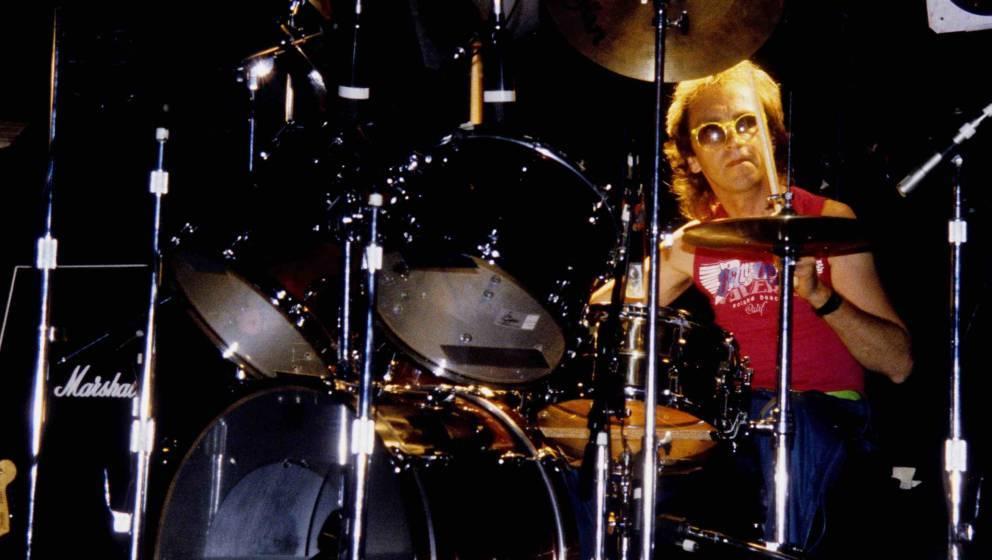 SACRAMENTO -  CIRCA 1980:  Mitch Mitchell performs at the Oasis Ballroom in Sacramento,  California on January 01, 1980. (Pho