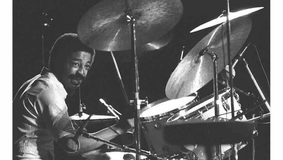 Photo 15JUL81 at Nice of US jazz drummer Tony Williams who died aged 51 following a heart attack at San Francisco. Tony Willi