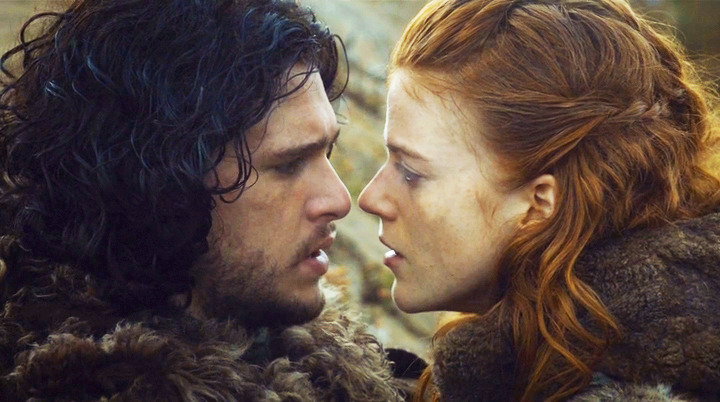 "Kit Harington und Rose Leslie in einer Szene aus ""Game Of Thrones"""