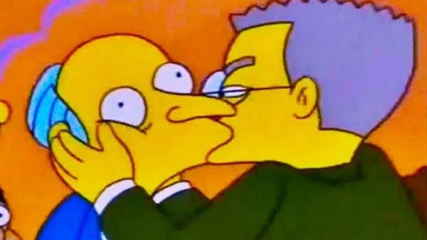 Waylon Smithers war viele Folgen lang (unglücklich) verliebt in seinen Boss
