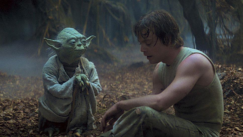 """Yoda und Luke Skywalker in """"Star Wars: Episode V - Das Imperium schlägt zurück"""""""