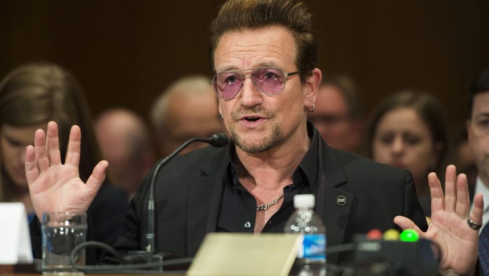 Bono in seiner Rede vor dem US-Senat