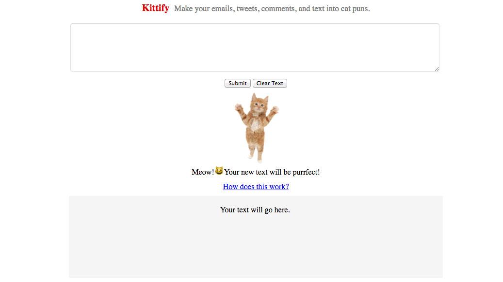 """""""Kittify"""" übersetzt Texte in Katzensprache."""