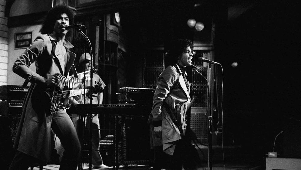 SATURDAY NIGHT LIVE -- Episode 11 -- Pictured: Musical guest Prince performs on February 21, 1981 -- Photo by: Alan Singer/NB