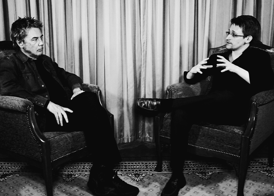 Jean-Michel Jarre und Edward Snowden im Gespräch
