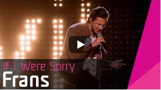 7. Schweden: Frans, 'If I Were Sorry'.   Wollmützenschnulli mit gefühlig pulsierender, klimpernder Umarmungsnummer. Frans s