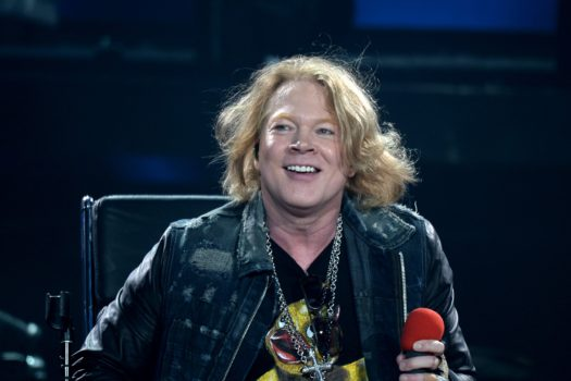 US singer Axl Rose performs with Australian band AC/DC in Marseille on May 13, 2016. / AFP / BORIS HORVAT (Photo credit should read BORIS HORVAT/AFP/Getty Images)