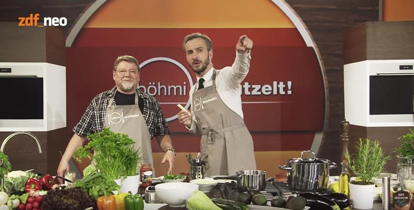Jan Böhmermann und Jürgen von der Lippe im Neo Magazin Royale