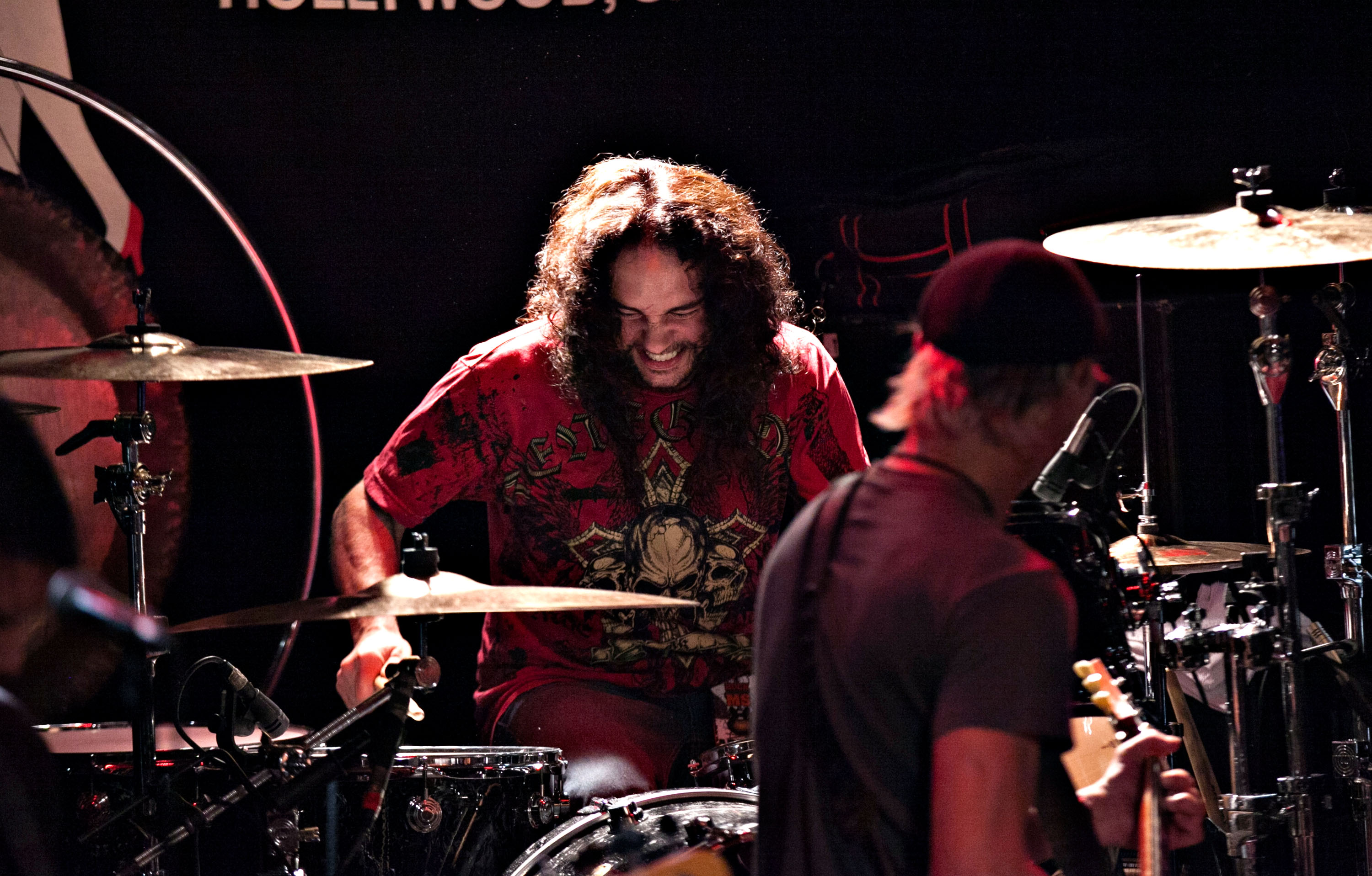 WEST HOLLYWOOD, CA - OCTOBER 17:  Nick Menza performs at 95.5 KLOS And The Whisky a Go Go Present Rock Against MS All Star Be