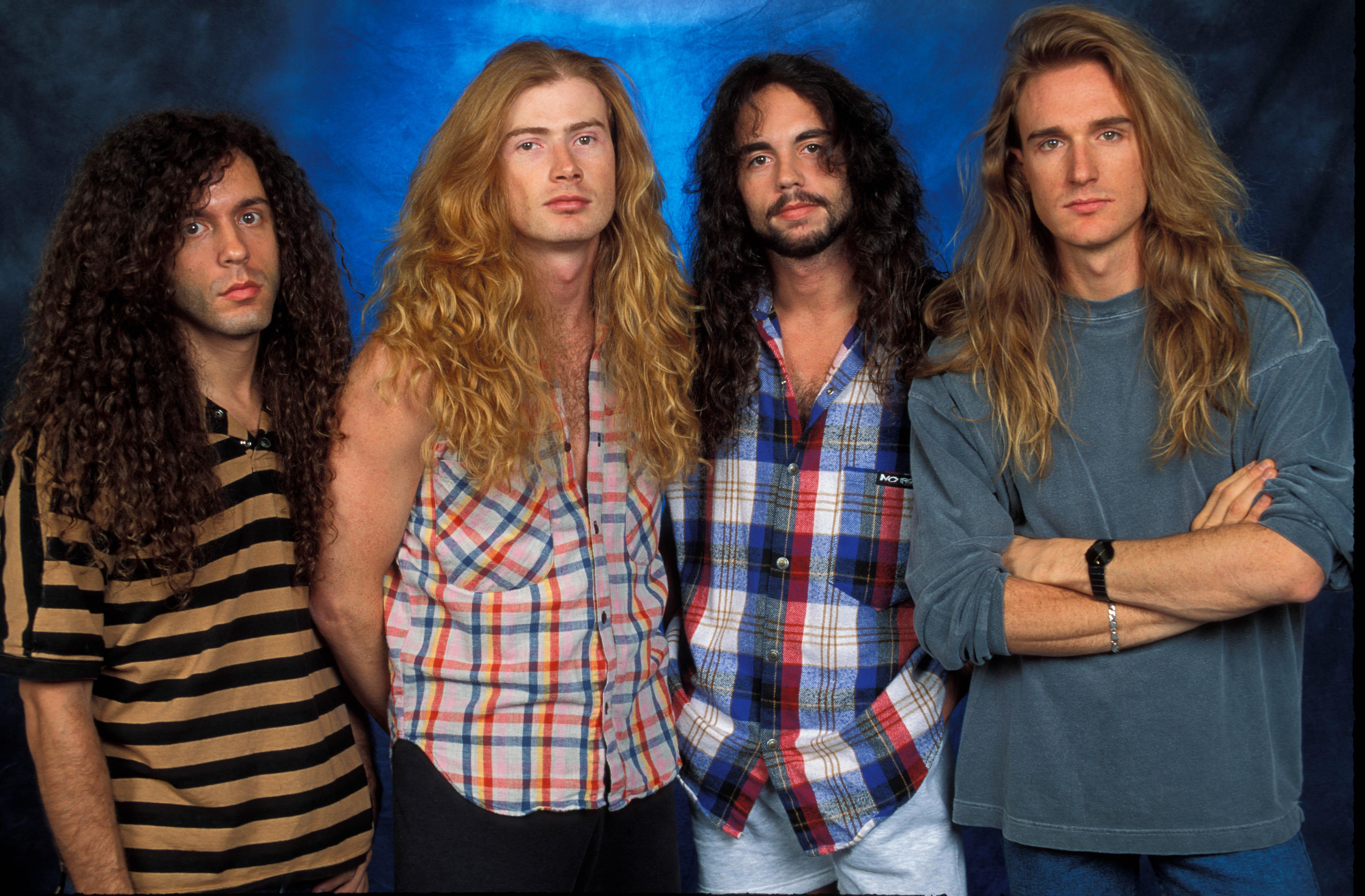 Nick Menza (2. von rechts) mit Megadeth