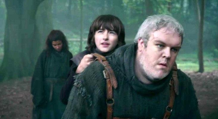 Bran auf dem Rücken von Hodor