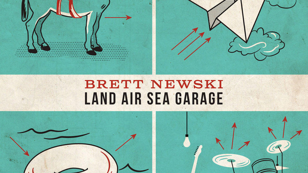 Brett Newski – Land Air Sea Garage. ★★. Etwas überraschungsarmer Indie-Rock'n'Roll, jetzt nicht mehr Lo-Fi