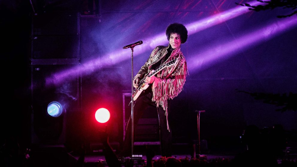 Prince im Jahr 2013, während eines Konzerts auf dem Skanderborg Festival in Dänemark.