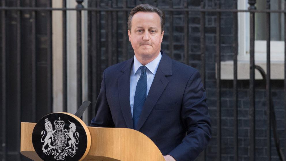 David Cameron am Morgen des 24. Juni 2016, kurz nachdem er seinen Rücktritt als Premierminister bekanntgegeben hat.