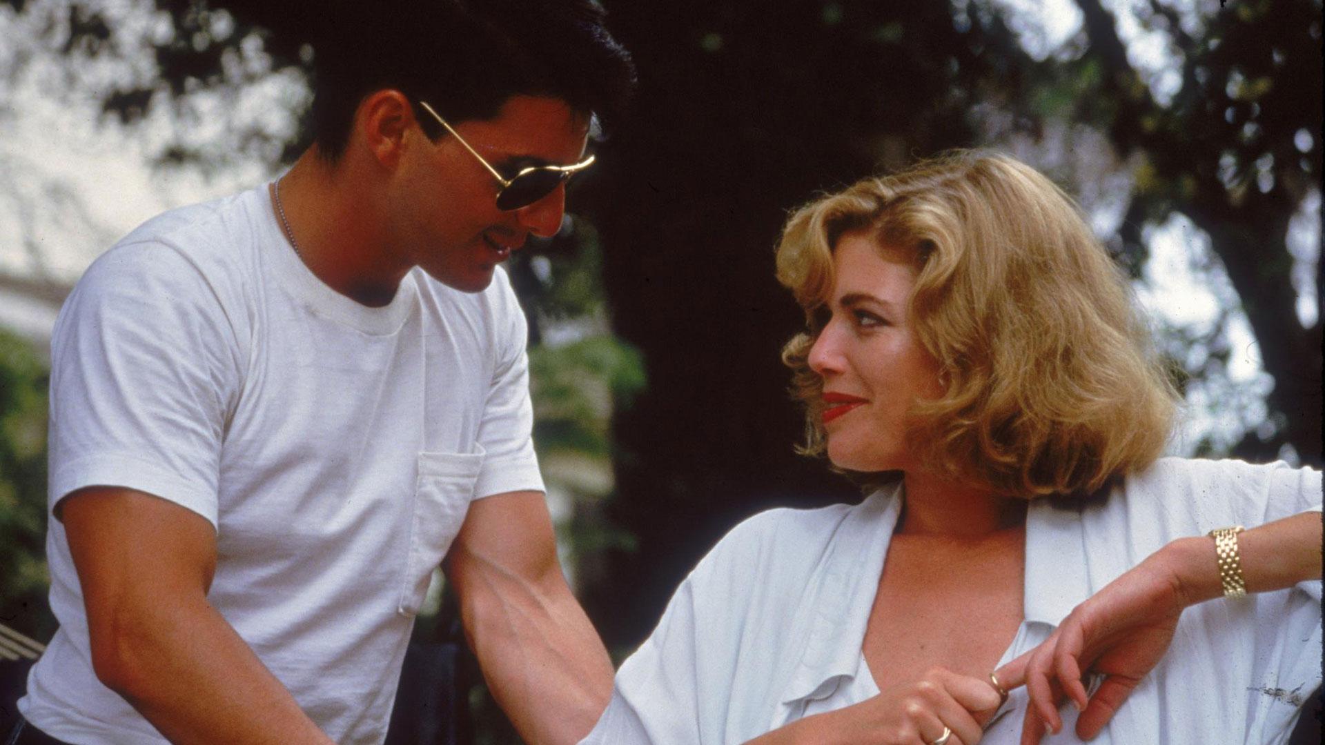 """Tom Cruise und Kelly McGillis in einer Szene aus """"Top Gun"""""""