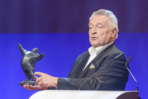BERLIN, GERMANY - JANUARY 20: Rainer Brandt receives his award at the B.Z. Kulturpreis at Theater am Kurfuerstendamm on Janua