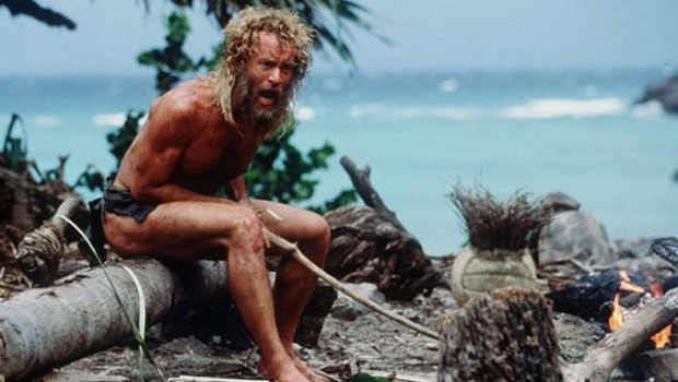"Tom Hanks mit Wilson in ""Cast Away"" (2000)"