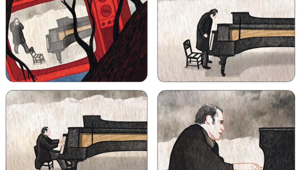 Ausschnitt aus Sandrine Revels Graphic Novel 'Glenn Gould, Leben Off-Beat'