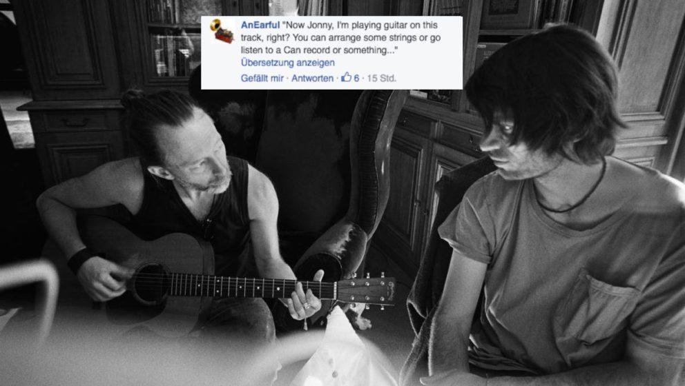 """""""Also Johnny, ich spiele auf diesem Track Gitarre. Du kannst ja mal was arrangieren gehen oder derweil mal eine Can-Platte"""