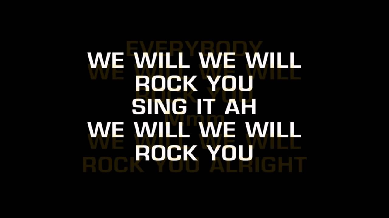 """06. Queen - """"We Will Rock You"""""""