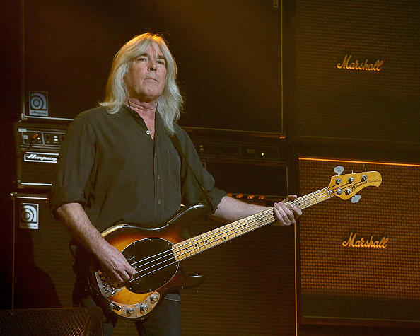 HOUSTON, TX - FEBRUARY 26:  Cliff Williams performs in concert with AC/DC at the Toyota Center on February 26, 2016 in Housto