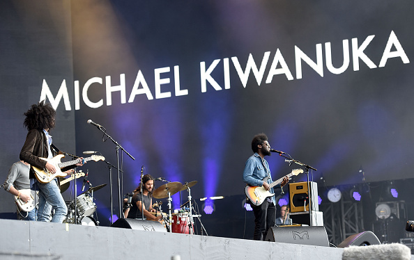 LONDON, ENGLAND - JULY 03:  Michael Kiwanuka performs on stage at the Barclaycard Presents British Summer Time Festival in Hy