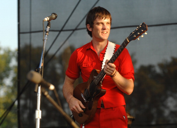 Nicholas McCarthy of Franz Ferdinand during Bonnaroo 2007 - Day 2 - Franz Ferdinand at Which Stage in Manchester, Tennessee,