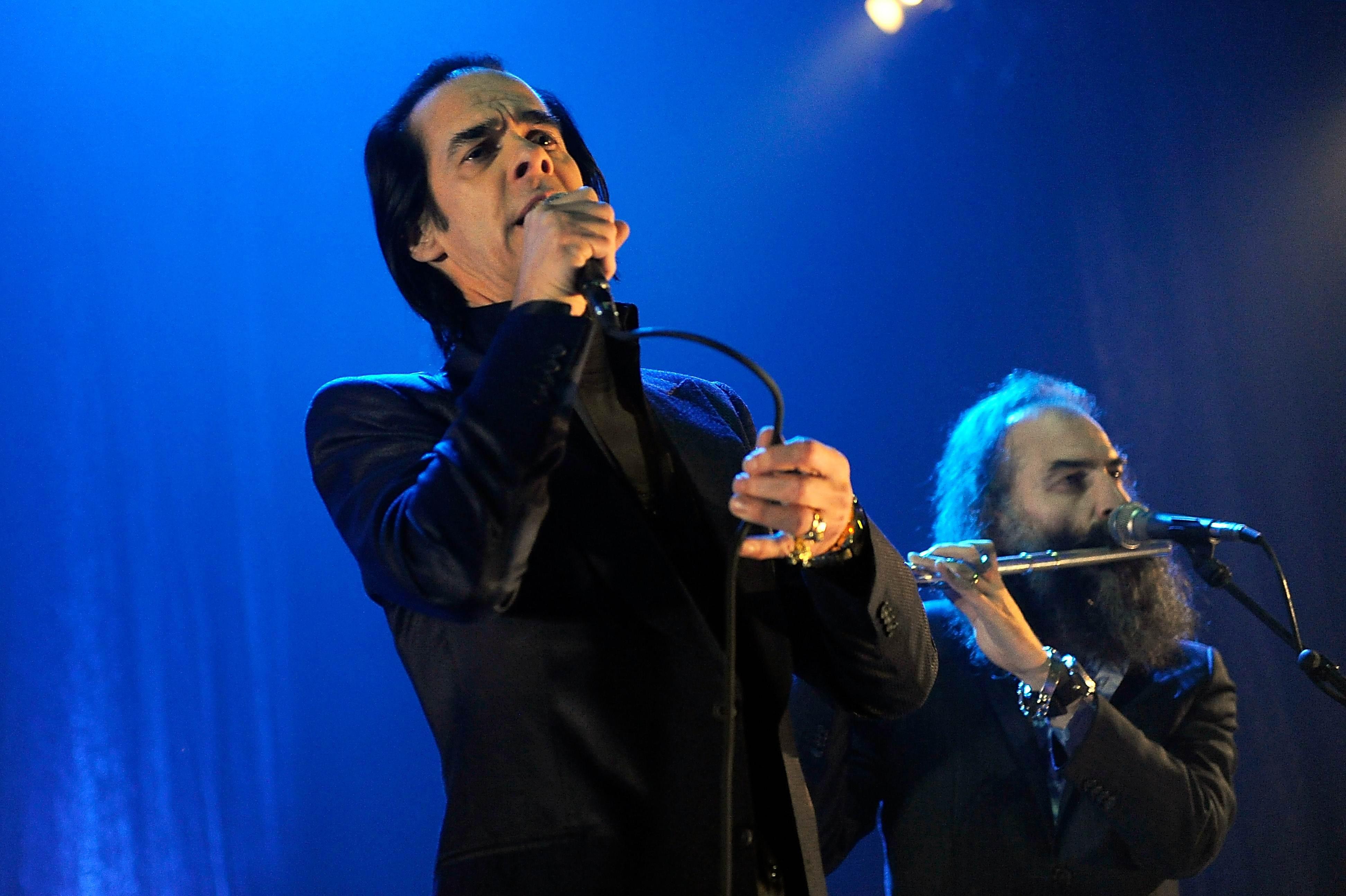 Nick Cave und Warren Ellis bei einem gemeinsamen Konzert mit den Bad Seeds
