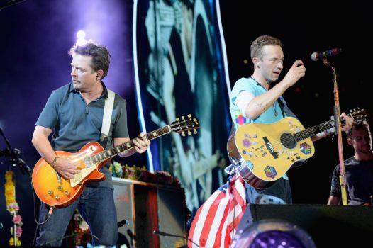 Michael J. Fox und Coldplay in New Jersey