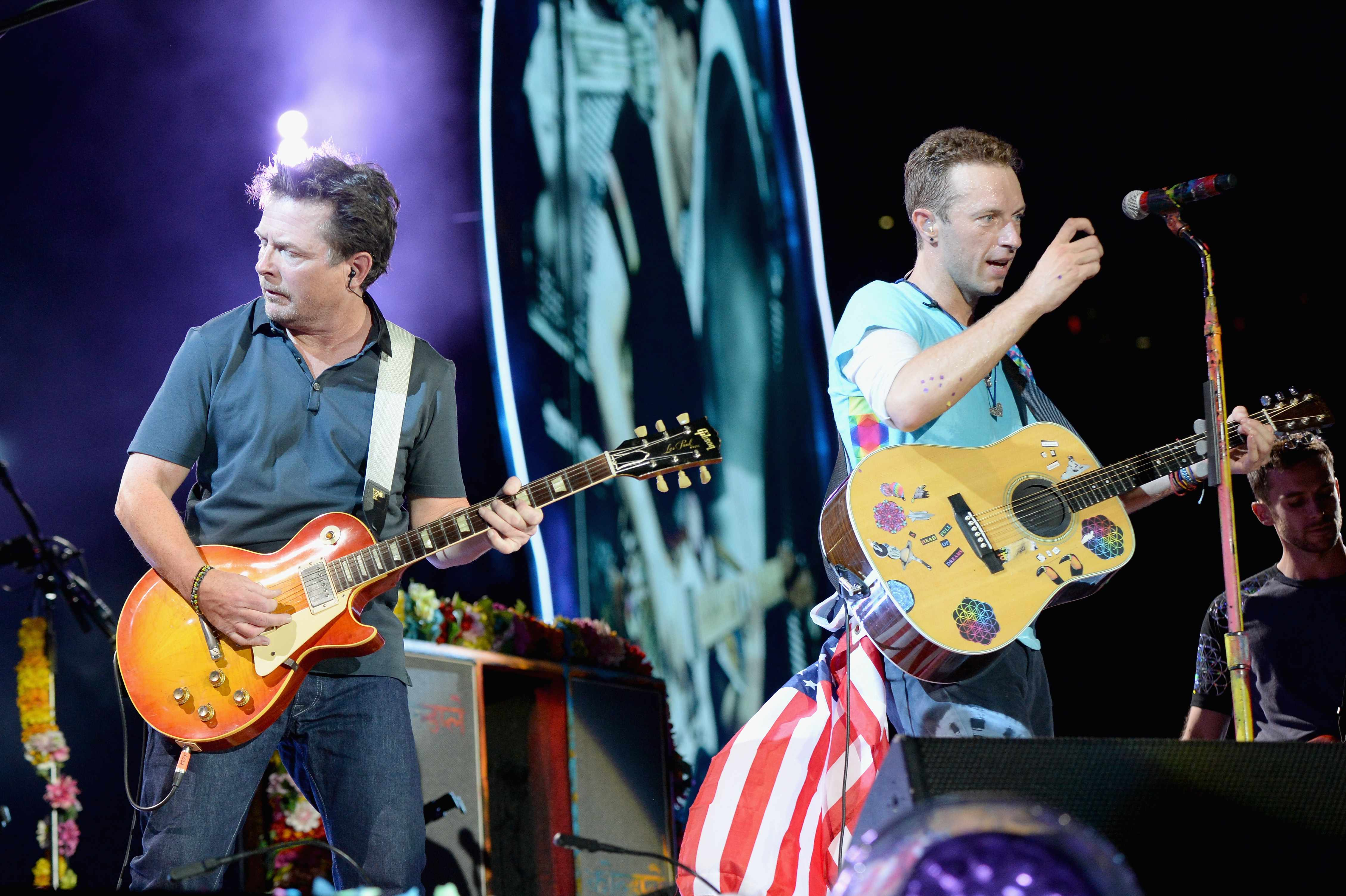 Michael J. Fox und Coldplay in New Jersey