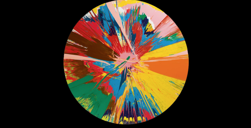 Damien Hirst, 'Beautiful, shattering, slashing, violent, pinky, hacking, sphincter painting', 1995