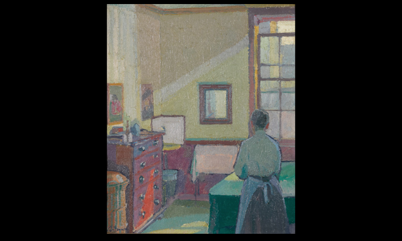 Harold Gilman, Interior (Mrs Mounter), 1917.