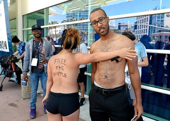 SAN DIEGO, CA - JULY 21:  Activists Anni Ma and Michael Brown attend Comic-Con International on July 21, 2016 in San Diego, C