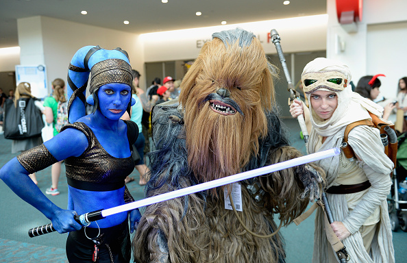 SAN DIEGO, CA - JULY 21:  Cosplayers attend Comic-Con International on July 21, 2016 in San Diego, California.  (Photo by Mat