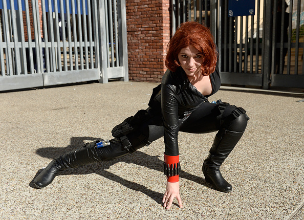 SAN DIEGO, CA - JULY 21:  Cosplayer dressed as Black Widow from Avengers attends during Comic-Con International on July 21, 2