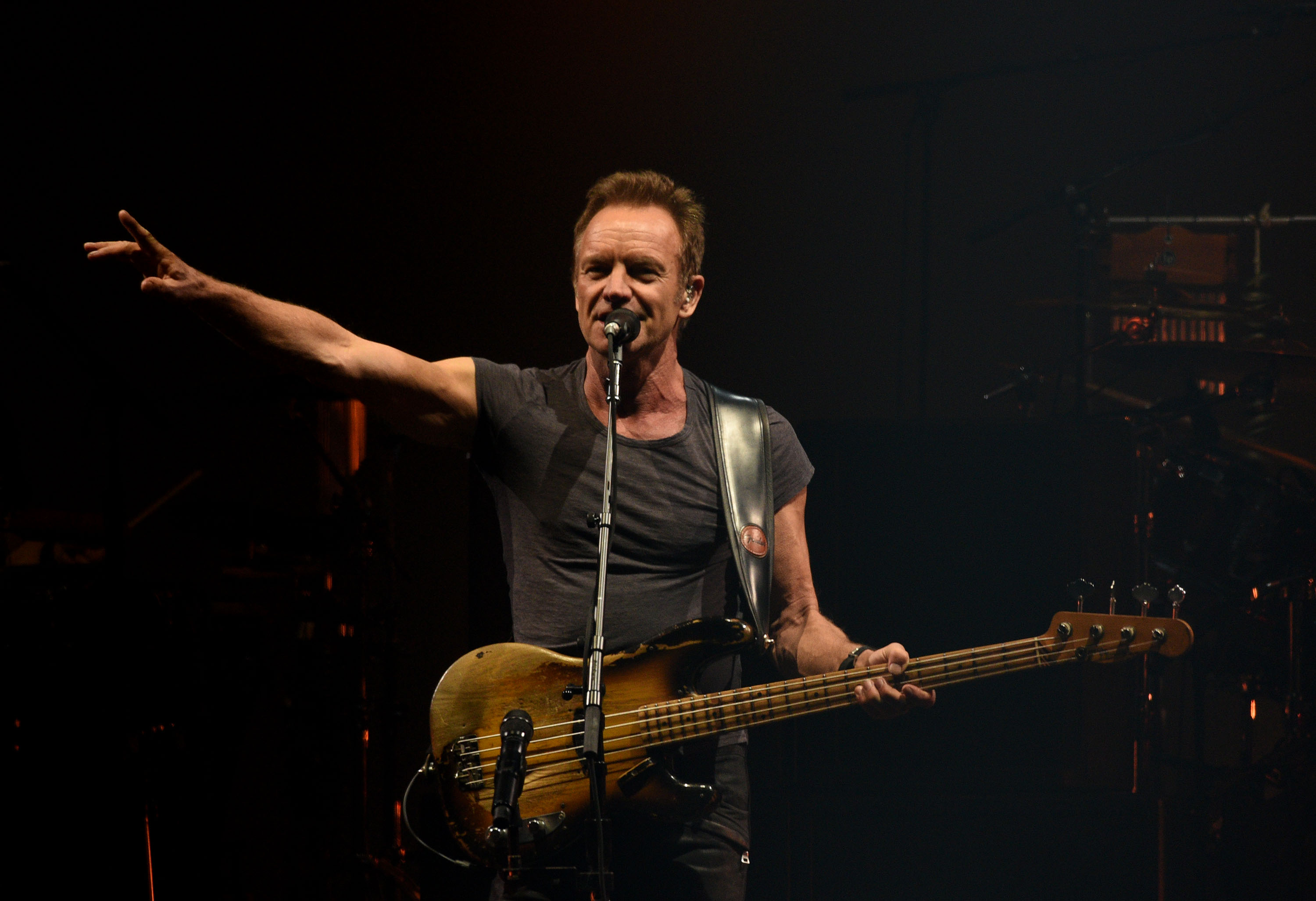 SEATTLE, WA - JULY 21:  Sting performs during the 'Rock, Paper, Scissors' North American Tour at Key Arena on July 21, 2016 i