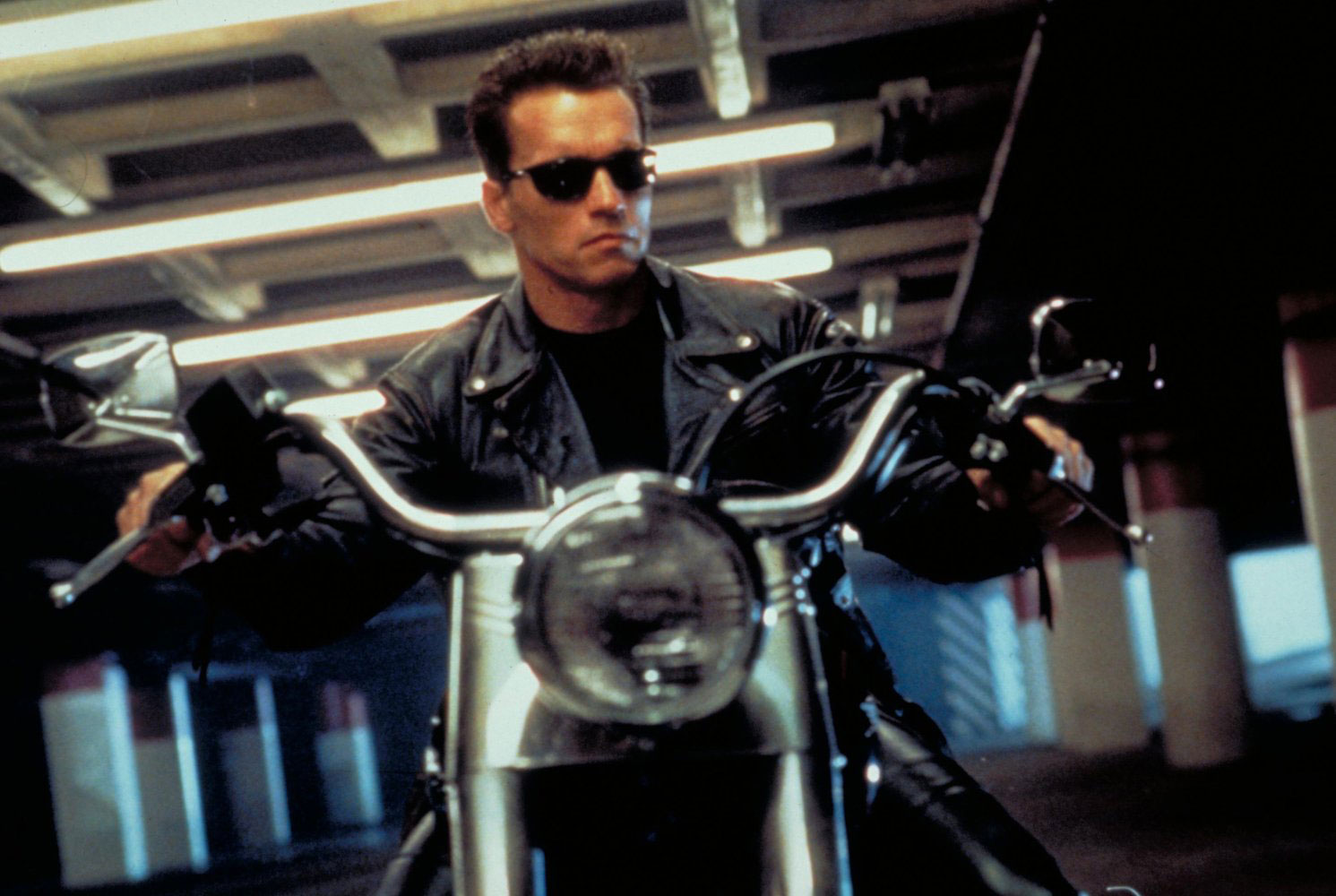 "Arnold Schwarzenegger als T-800 in ""Terminator 2: Judgment Day"""