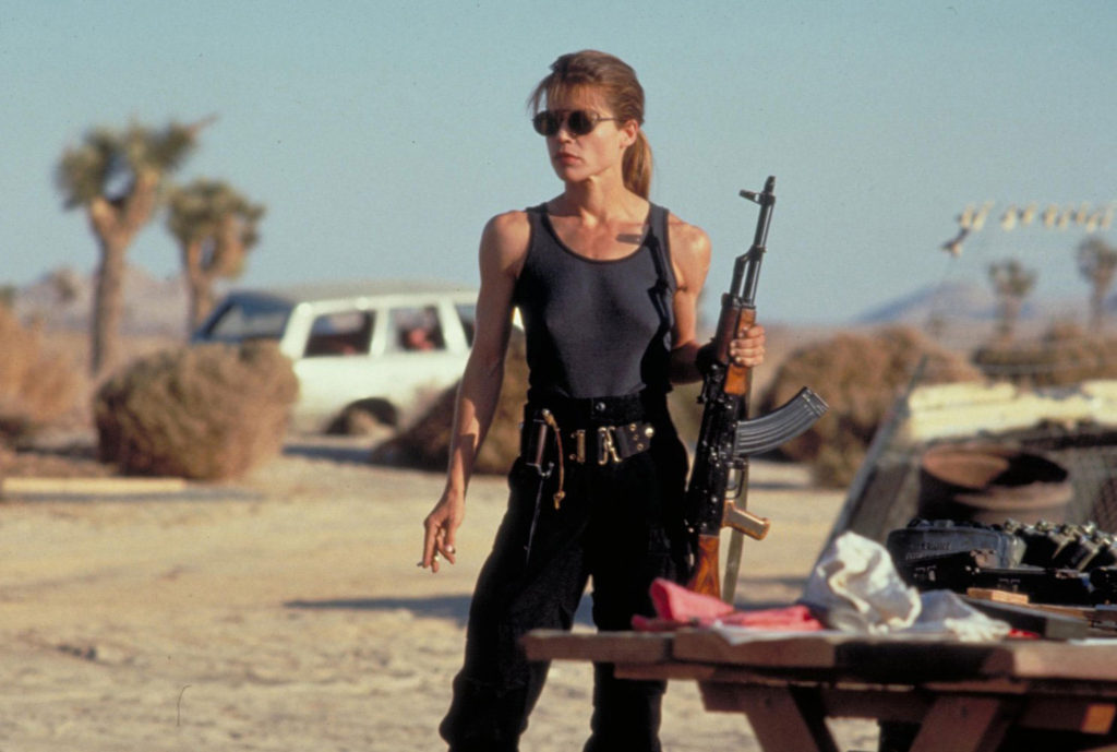 "Sarah Connor (Linda Hamilton) in ""Terminator 2: Judgment Day"""