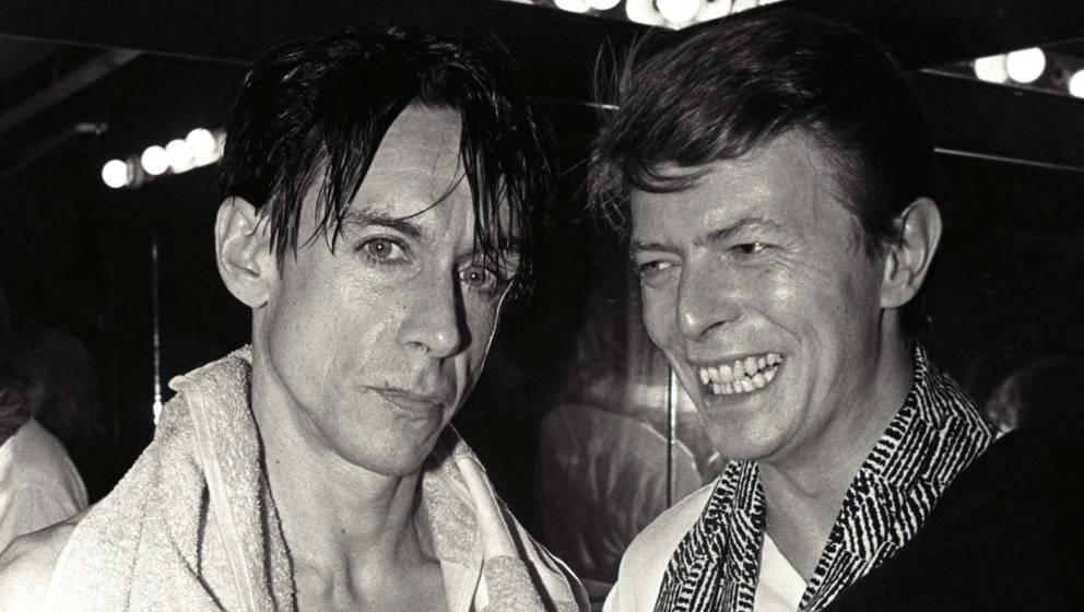 Iggy Pop und David Bowie im Jahr 1986.