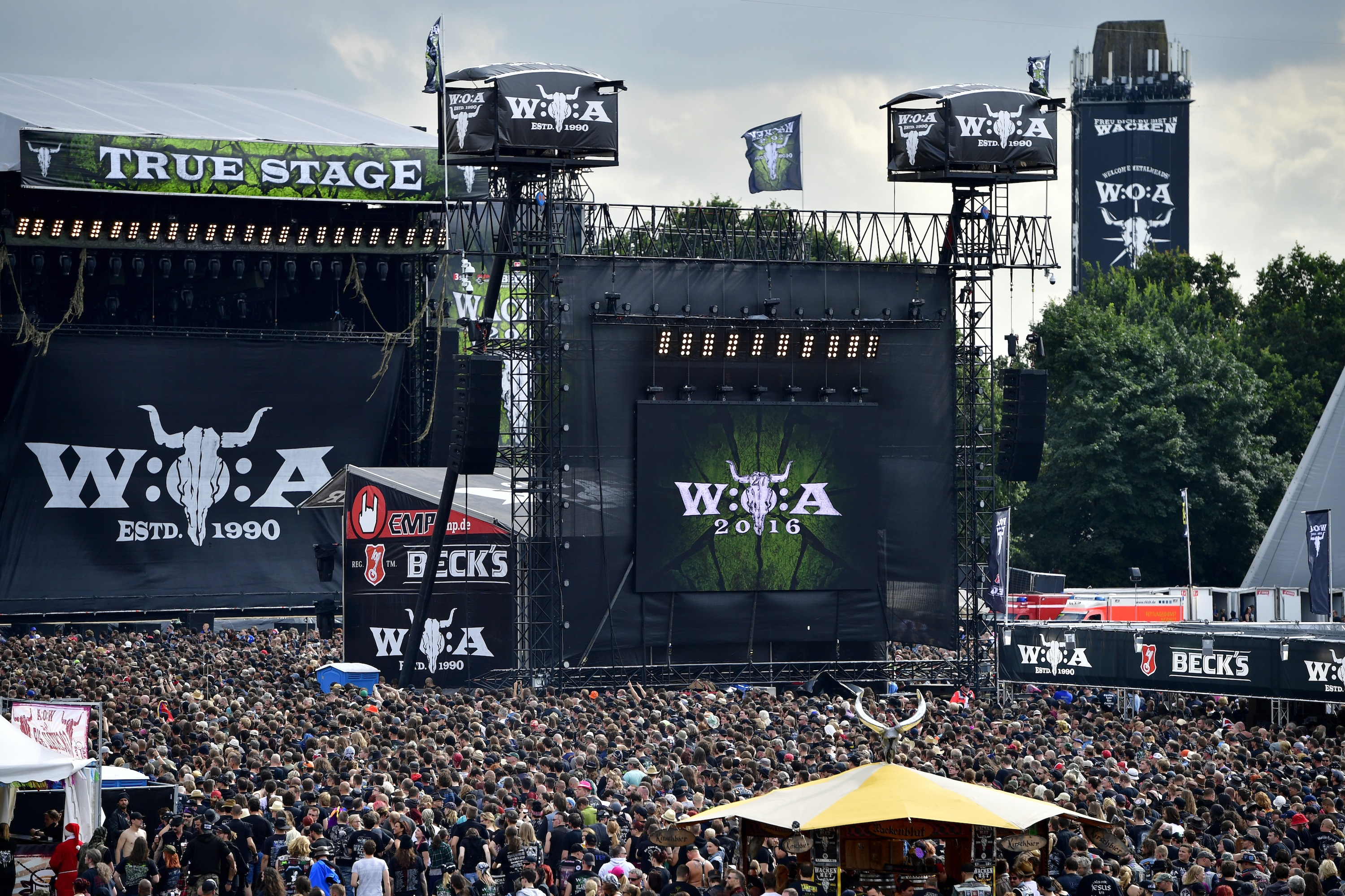 WACKEN, GERMANY - AUGUST 04: General view of the Wacken Open Air festival on August 4, 2016 in Wacken, Germany. Wacken is a v