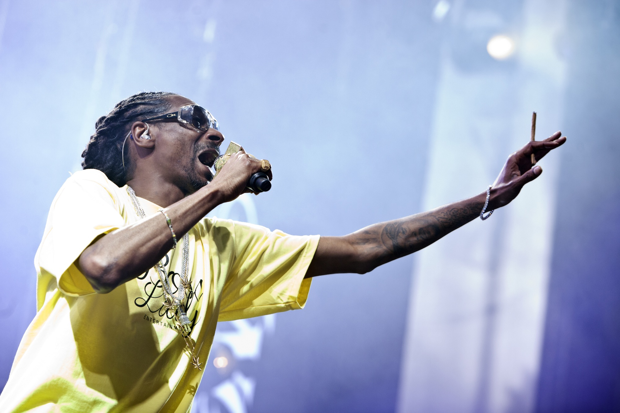 CHARLOTTE, NC - JULY 24:  Rapper Snoop Dogg performs during the Merry Jane presents the High Road Summer Tour at PNC Music Pa
