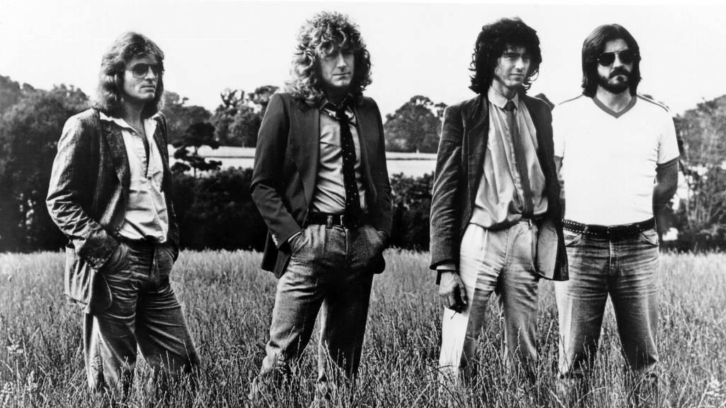 Led Zeppelin im Jahr 1977
