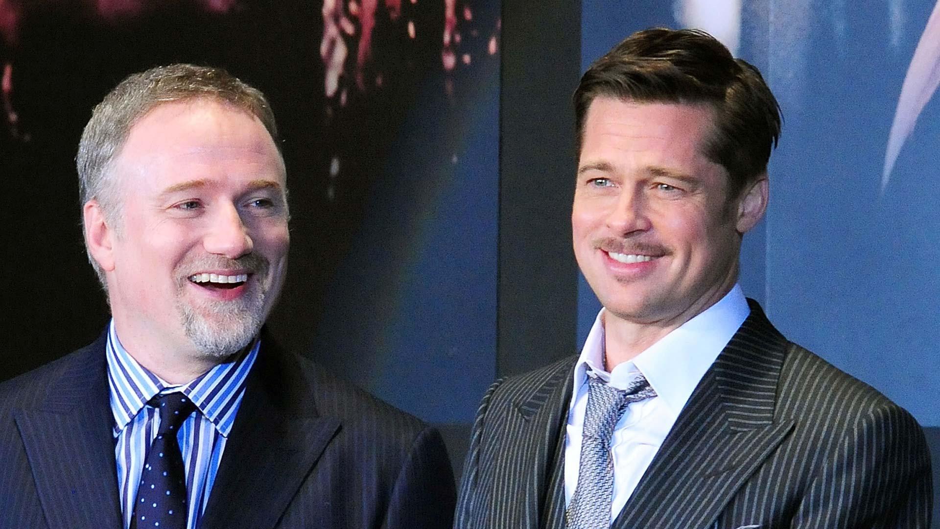 """David Fincher und Brad Pitt gemeinsam bei der Premiere von """"The Curious Case Of Benjamin Button""""."""