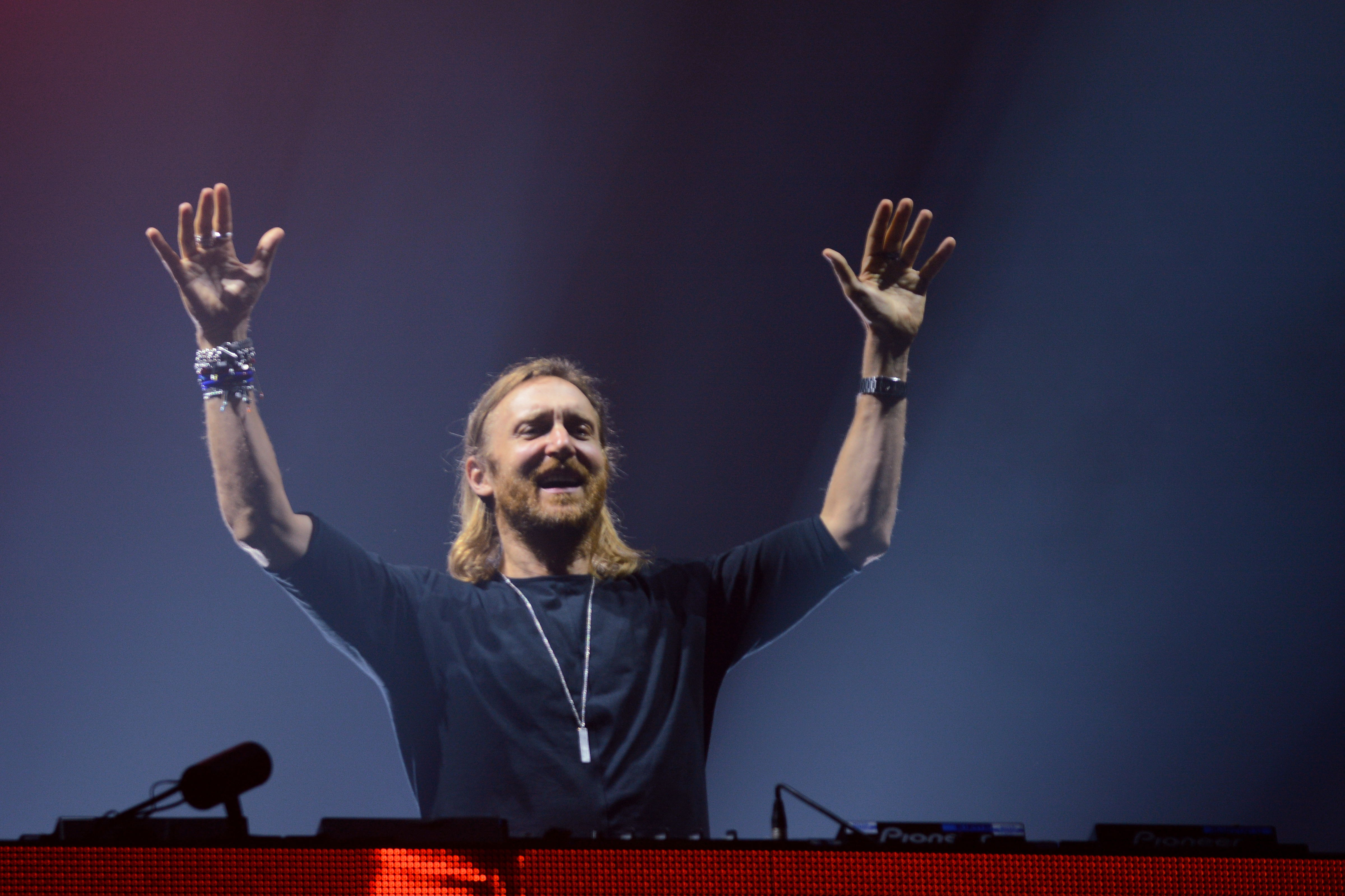BUDAPEST, HUNGARY - AUGUST 14:  David Guetta performs on stage during day 5 of the Sziget festival on August 14, 2016 in Buda