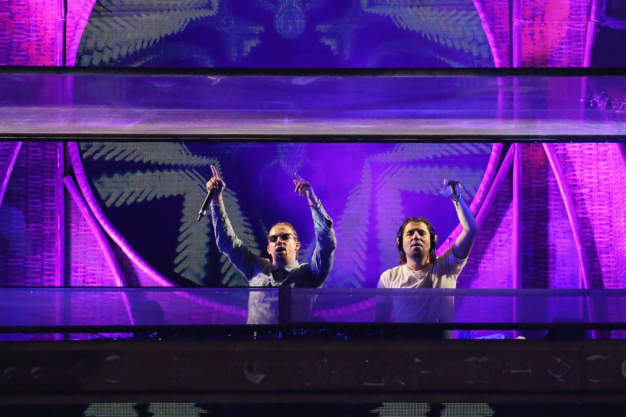 NEW YORK, NY - MAY 14:  Dimitri Vegas and Like Mike perform during the 2016 Electric Daisy Carnival on May 14, 2016 in New Yo