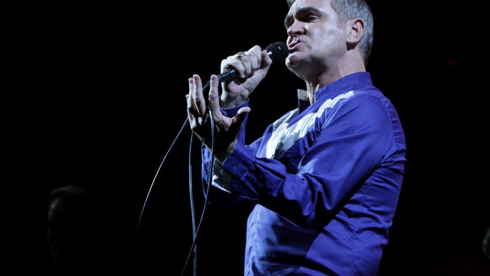 LOS ANGELES, CA - AUGUST 23:  Singer Morrissey performs onstage at FYF at the LA Sports Arena & Exposition Park on August